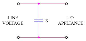 x capacitor circuit