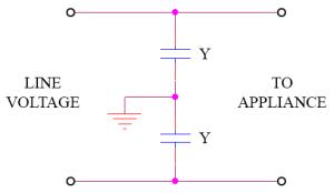 y capacitor circuit
