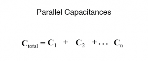 parallel capacitances formula