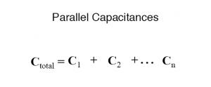 parallel capacitances formula