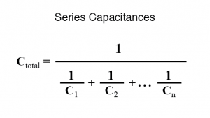 series capacitances formula